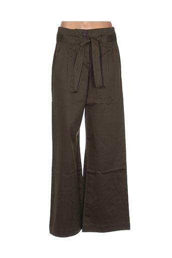ideo pantalons femme de couleur vert
