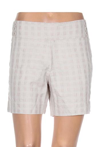ethos shorts / bermudas femme de couleur beige