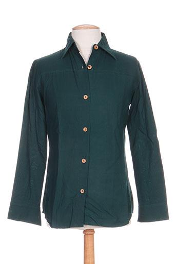 kolam chemises homme de couleur vert