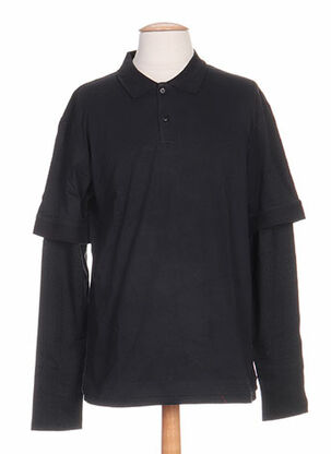 Polo manches longues noir IDEO pour homme