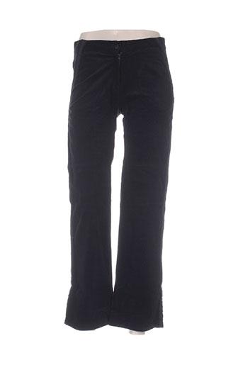 ideo pantalons femme de couleur noir