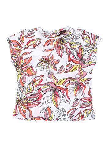 T-shirt manches courtes orange IDEO pour fille