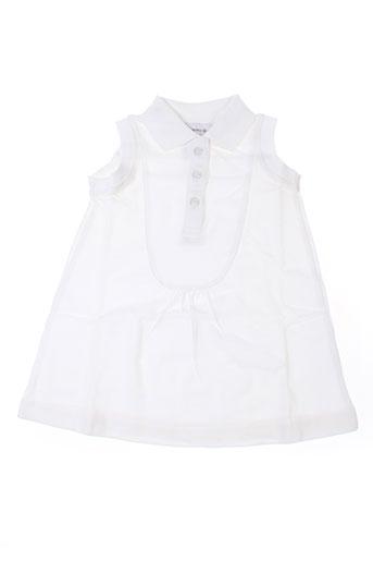 Robe courte blanc IDEO pour fille