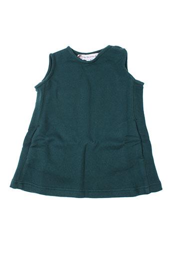 Robe courte vert IDEO pour fille