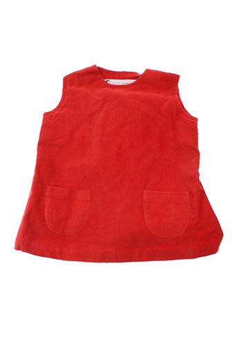 Robe mi-longue rouge IDEO pour fille