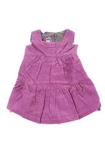 Robe mi-longue violet IDEO pour fille