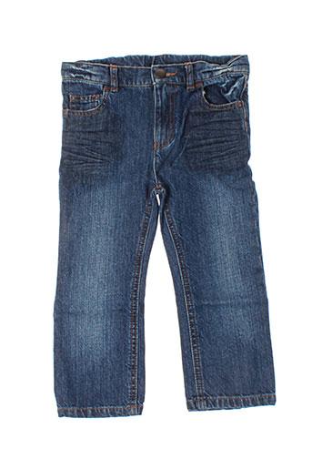 ideo jeans fille de couleur bleu