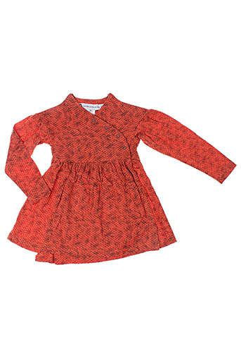 ideo robes fille de couleur orange