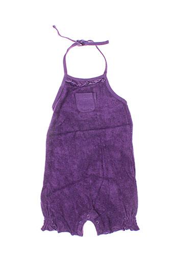 Combishort violet IDEO pour fille