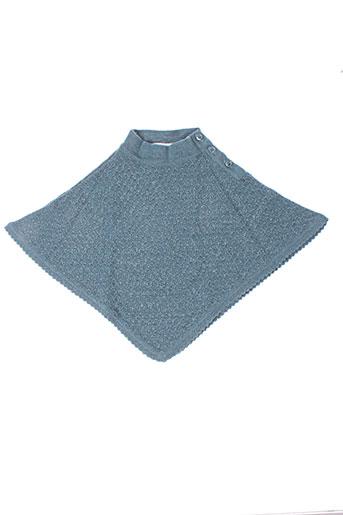 Poncho gris IDEO pour fille