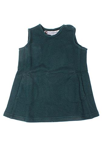 Robe mi-longue vert IDEO pour fille