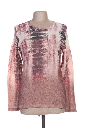 Pull col rond rose GALMALLA pour femme