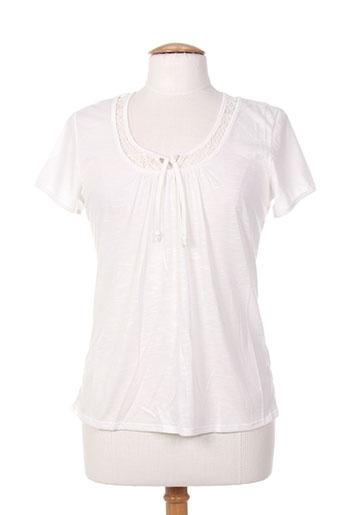 jean gabriel t-shirts femme de couleur blanc