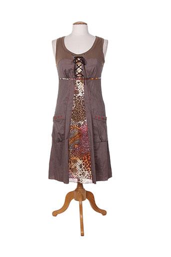 sarah luna robes femme de couleur marron
