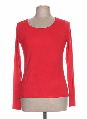 T-shirt manches longues rouge CAMISETAS pour femme
