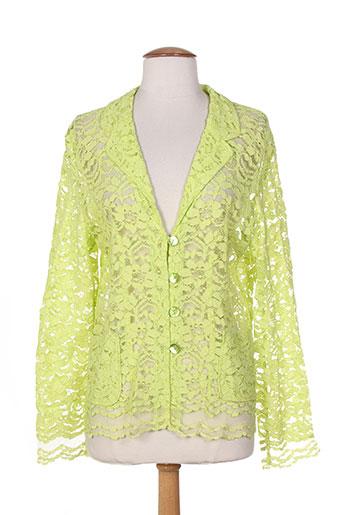 nathalie chaize vestes femme de couleur vert