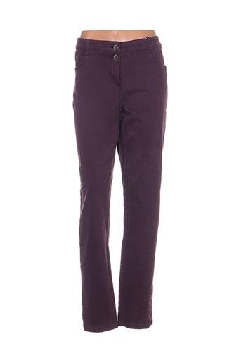 cecil pantalons femme de couleur violet