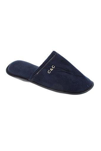 christian cane chaussures homme de couleur bleu
