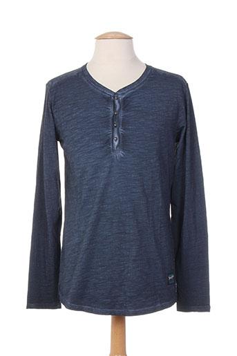 teddy smith t-shirts / tops homme de couleur bleu
