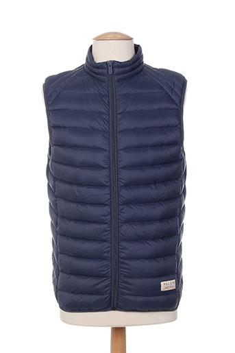 pull in manteaux homme de couleur bleu