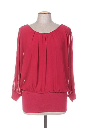 fracomina chemises femme de couleur rouge