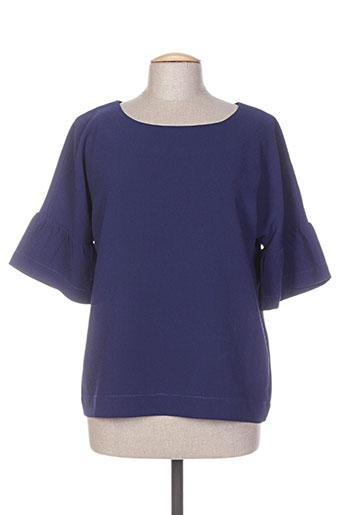 wmn chemises femme de couleur bleu