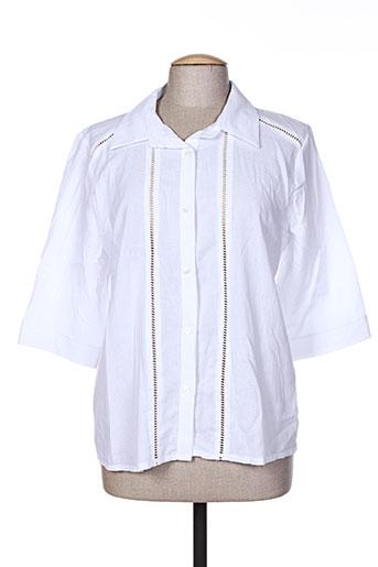 purple's chemises femme de couleur blanc