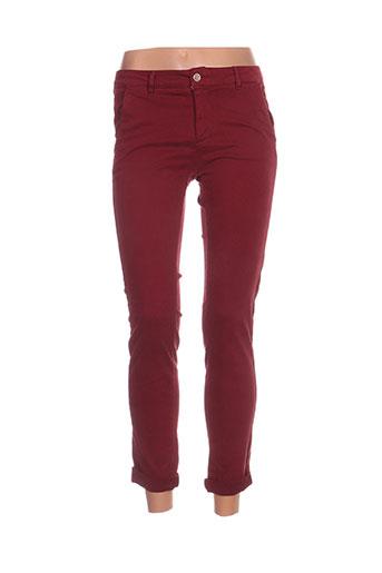 bô-m pantalons femme de couleur rouge
