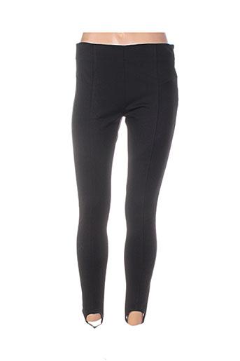 atelier jad pantalons femme de couleur noir