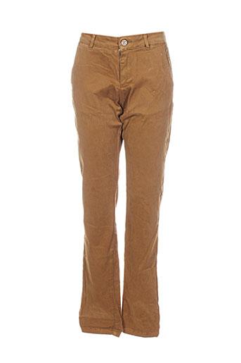 bô-m pantalons femme de couleur marron