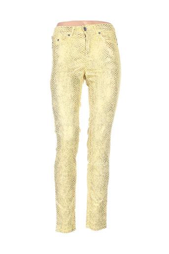 couturist pantalons femme de couleur jaune