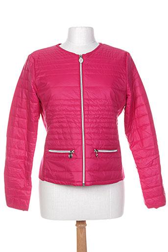 laura jo manteaux femme de couleur rose