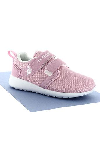 u.s. polo assn chaussures fille de couleur rose