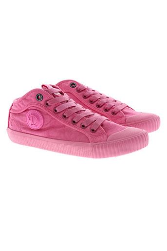 pepe jeans chaussures fille de couleur rose