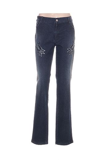 isabella diavoli pantalons femme de couleur bleu