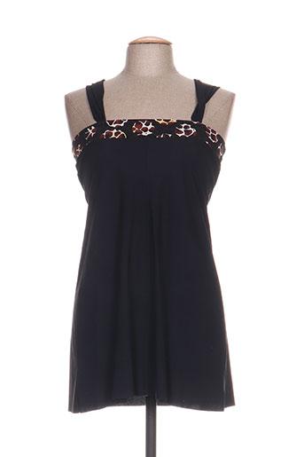Robe courte noir ANTIGEL pour femme