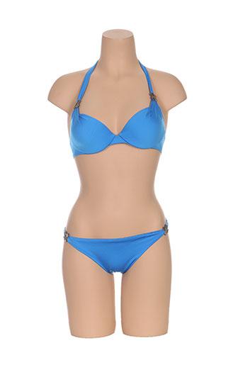 Maillot de bain 2 pièces bleu LISE CHARMEL pour femme