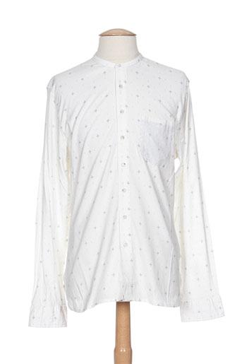 pearly king chemises homme de couleur blanc