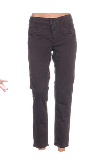 five pantalons femme de couleur gris