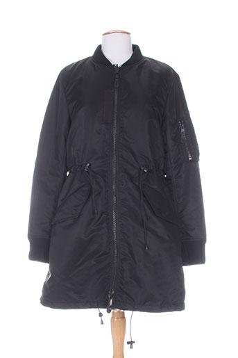Manteau long noir BLONDE NO.8 pour fille
