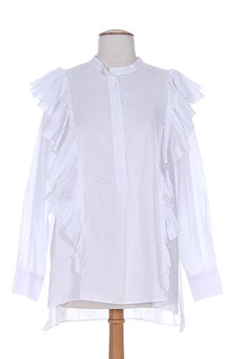 8pm chemises femme de couleur blanc