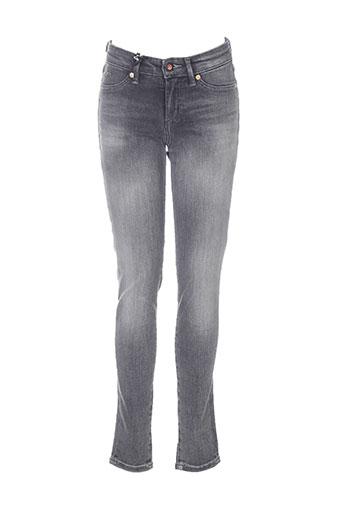 denham jeans femme de couleur gris