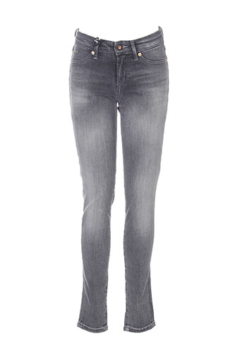 Jeans coupe slim gris DENHAM pour femme