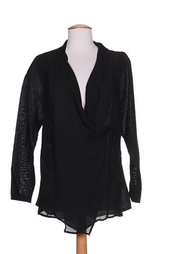 mellem chemises femme de couleur noir