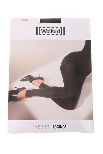 wolford pantalons femme de couleur noir