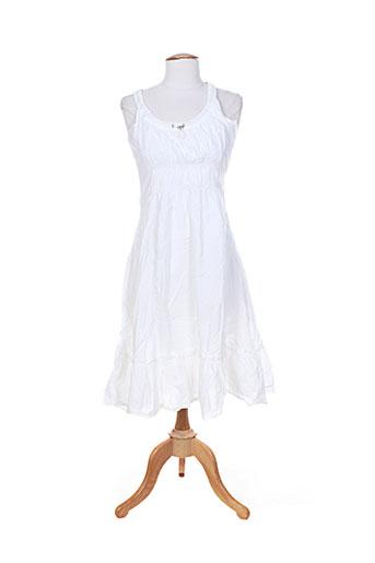 garuda garuzo robes femme de couleur blanc
