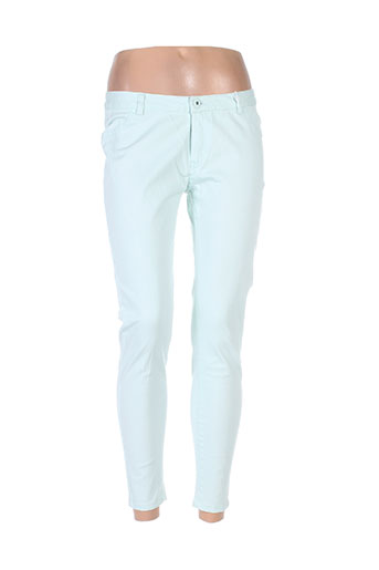 little marcel pantalons femme de couleur vert