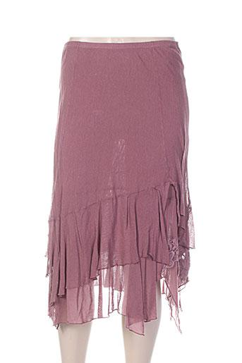 Jupe mi-longue violet MADO ET LES AUTRES pour femme