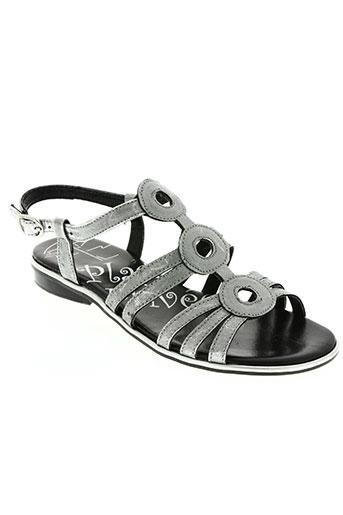 plage privee chaussures femme de couleur gris