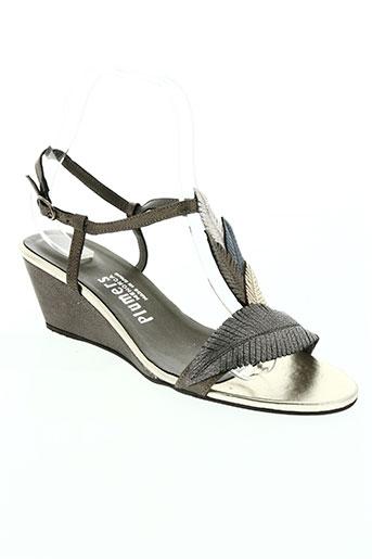 plumers chaussures femme de couleur marron